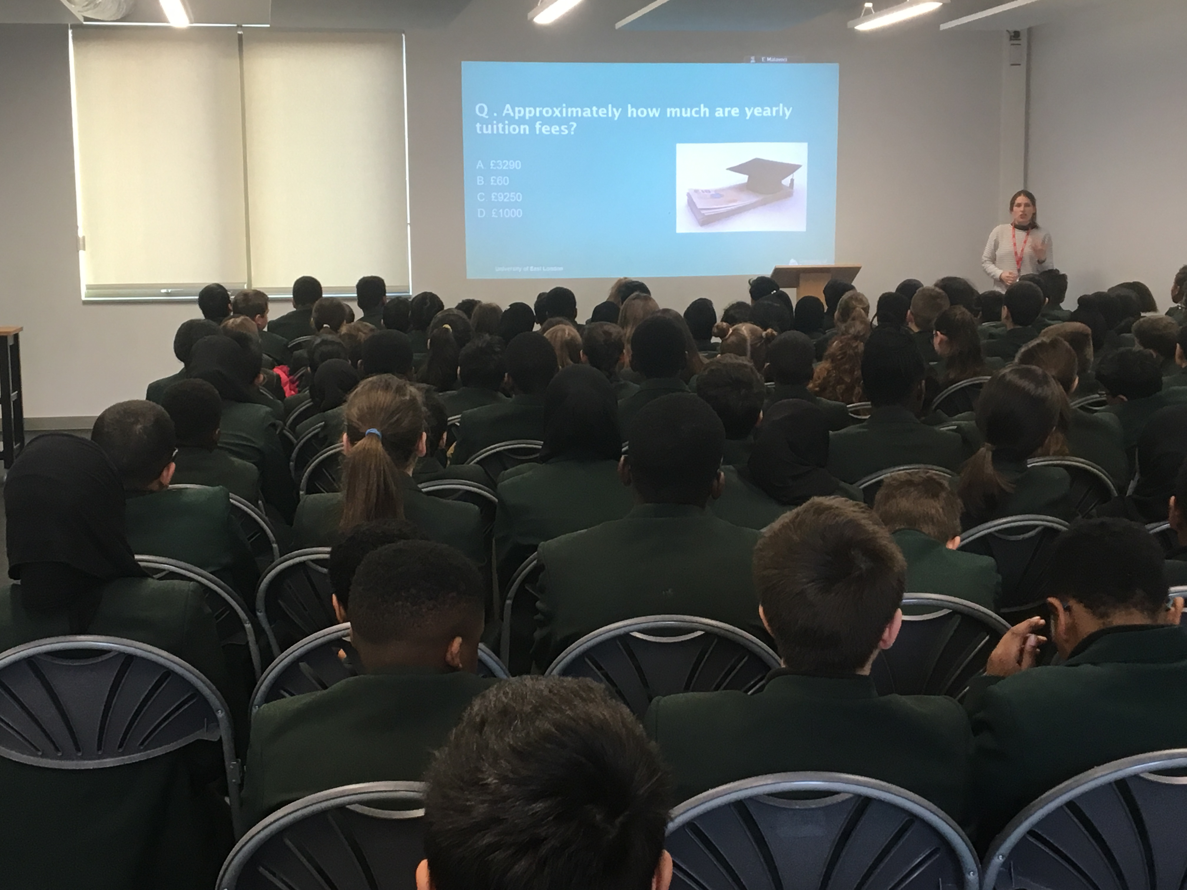 Greatfields School » Year 7 University of East London Assembly